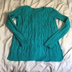 Turquoise sweater by loft
